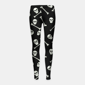 Thumbnail image of Halloween Skull and bones Girl's leggings, Live Heroes