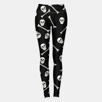Thumbnail image of Halloween Skull and bones Leggings, Live Heroes