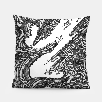 Thumbnail image of Wandering 05: grayscale Pillow, Live Heroes