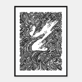 Thumbnail image of Wandering 05: grayscale Framed poster, Live Heroes