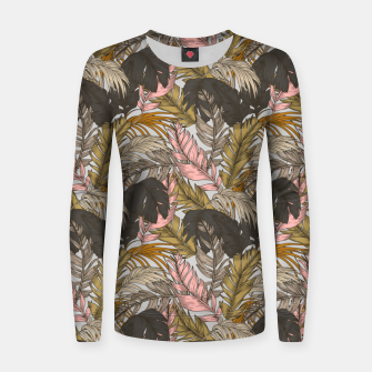 Miniature de image de Sunset on palm leaves 0I Sudadera para mujeres, Live Heroes
