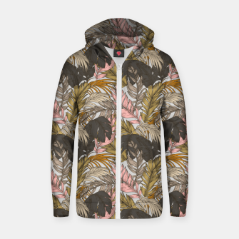 Miniatur Sunset on palm leaves 0I Sudadera con capucha y cremallera , Live Heroes
