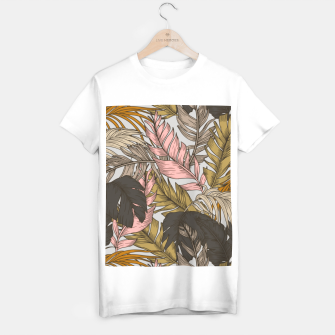 Miniatur Sunset on palm leaves 0I Camiseta Regular, Live Heroes