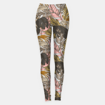 Miniatur Sunset on palm leaves 0I Leggings, Live Heroes