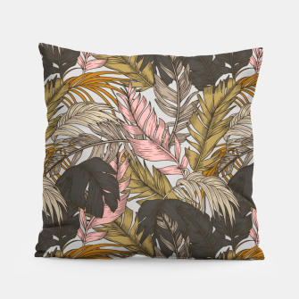 Miniatur Sunset on palm leaves 0I Almohada, Live Heroes