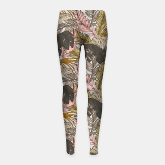 Miniature de image de Sunset on palm leaves 0I Leggings para niña, Live Heroes