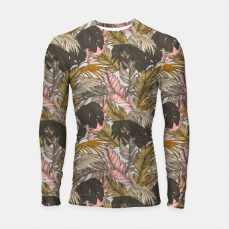 Miniatur Sunset on palm leaves 0I Longsleeve rashguard, Live Heroes
