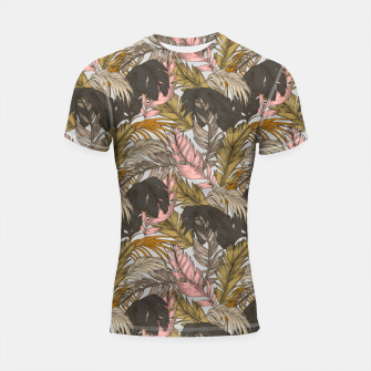 Miniatur Sunset on palm leaves 0I Shortsleeve rashguard, Live Heroes