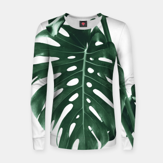Monstera Delight #4 #tropical #decor #art Frauen sweatshirt miniature