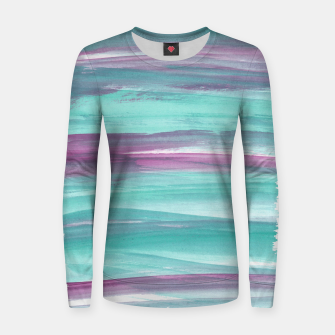 Mermaid Abstract Minimalism #1 #minimal #ink #decor #art Frauen sweatshirt obraz miniatury