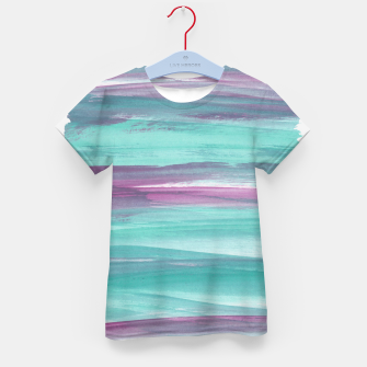Mermaid Abstract Minimalism #1 #minimal #ink #decor #art T-Shirt für kinder obraz miniatury