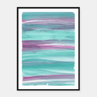 Mermaid Abstract Minimalism #1 #minimal #ink #decor #art Plakat mit rahmen miniature