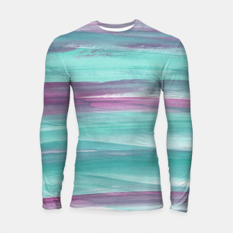Mermaid Abstract Minimalism #1 #minimal #ink #decor #art Longsleeve rashguard miniature
