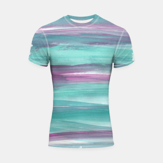 Mermaid Abstract Minimalism #1 #minimal #ink #decor #art Shortsleeve rashguard obraz miniatury