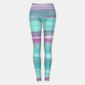 Mermaid Abstract Minimalism #1 #minimal #ink #decor #art Leggings obraz miniatury