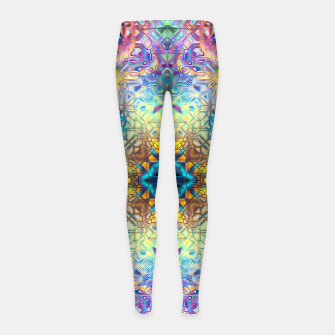 Thumbnail image of Abstract Pattern II Girl's leggings, Live Heroes