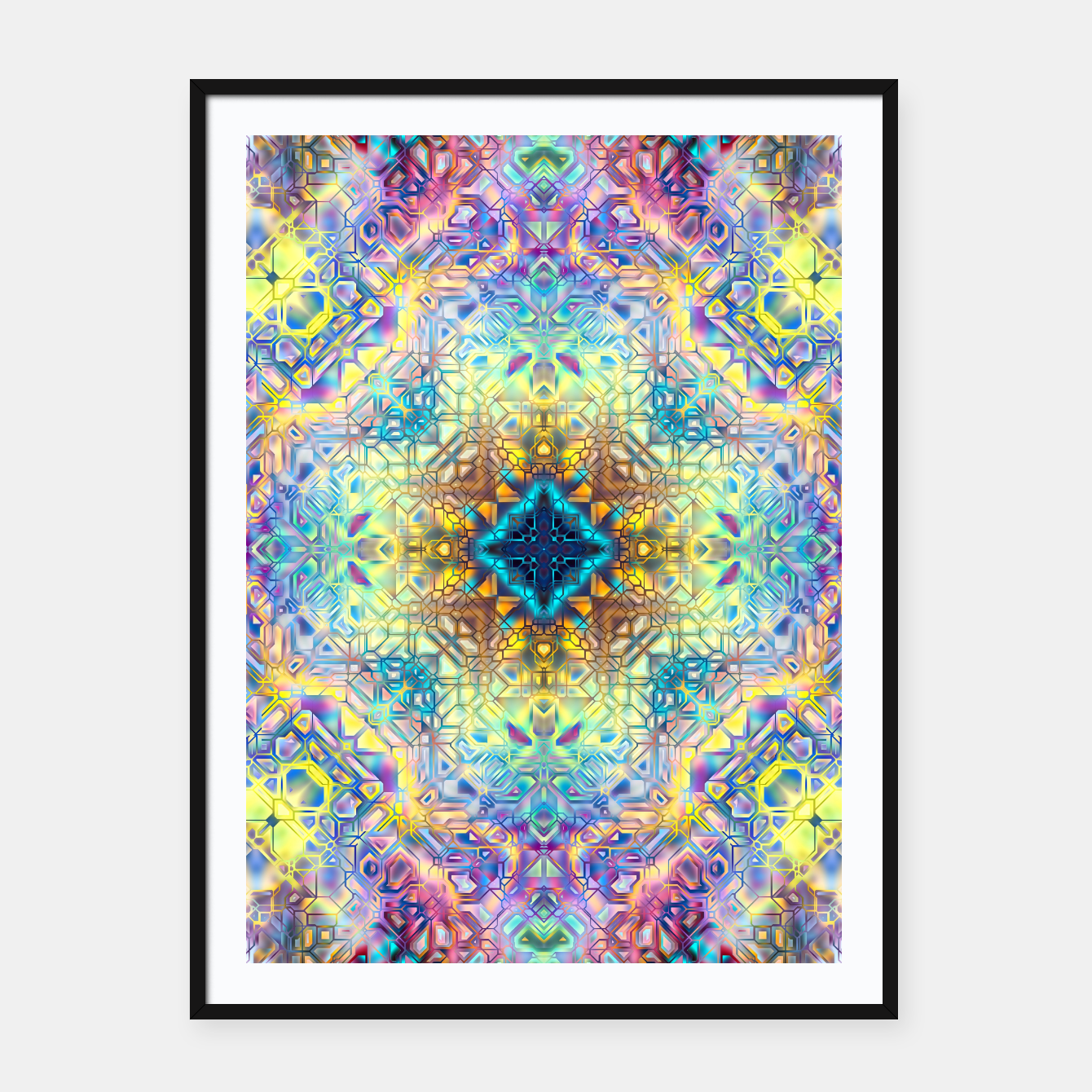 Zdjęcie Abstract Pattern II Framed poster - Live Heroes