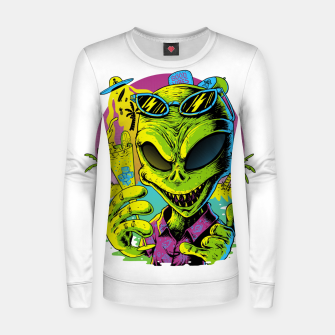 Alien Summer Vibes Women sweater Bild der Miniatur