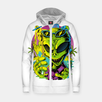 Alien Summer Vibes Zip up hoodie Bild der Miniatur