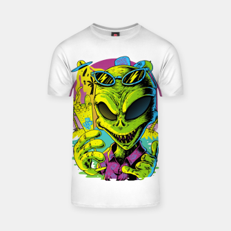 Thumbnail image of Alien Summer Vibes T-shirt, Live Heroes