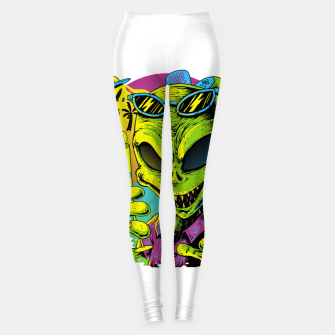 Alien Summer Vibes Leggings Bild der Miniatur
