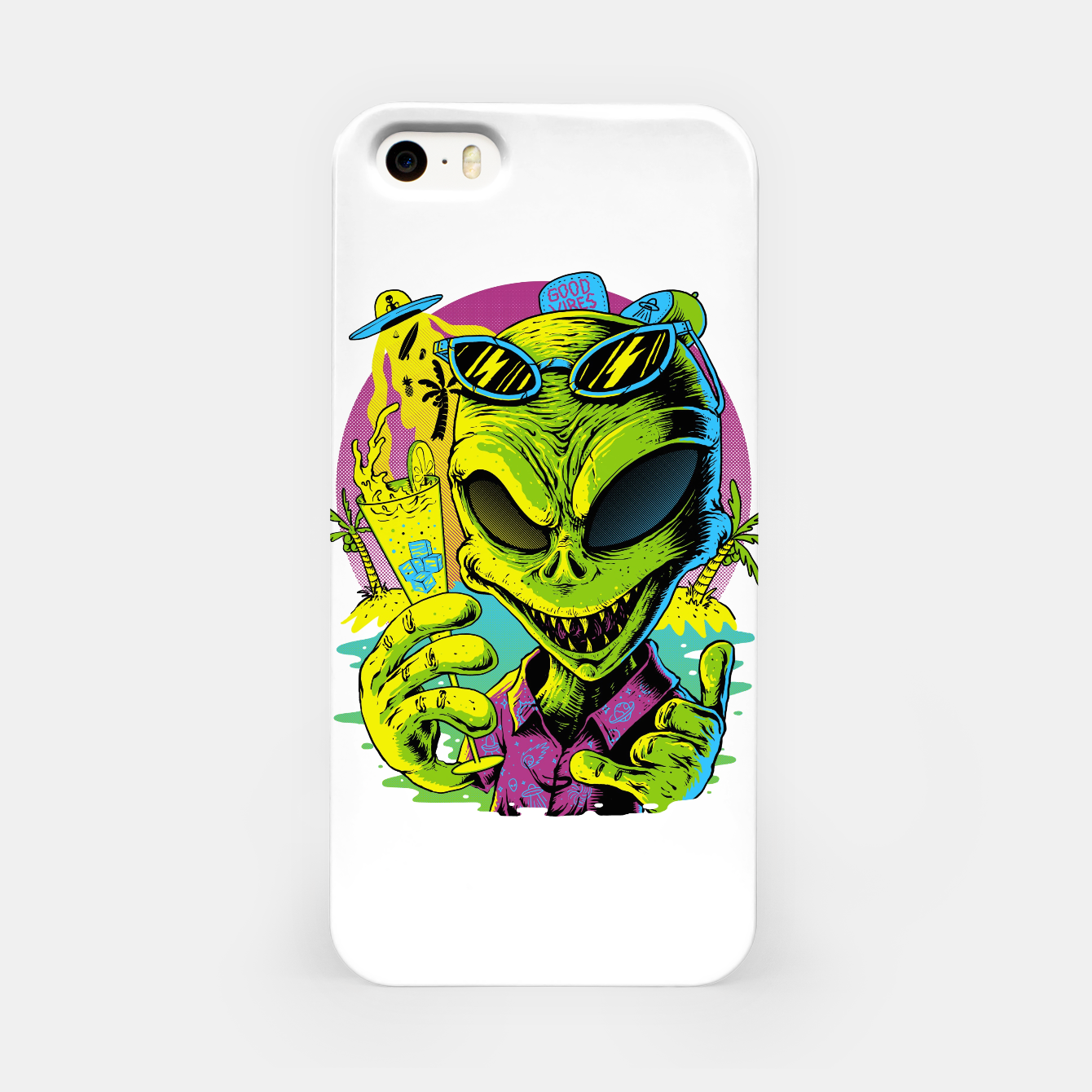 Image of Alien Summer Vibes iPhone Case - Live Heroes