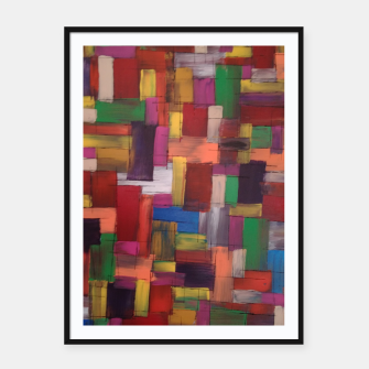 Thumbnail image of multicolor Framed poster, Live Heroes