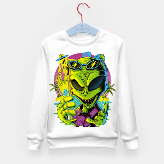 Alien Summer Vibes Kid's sweater Bild der Miniatur