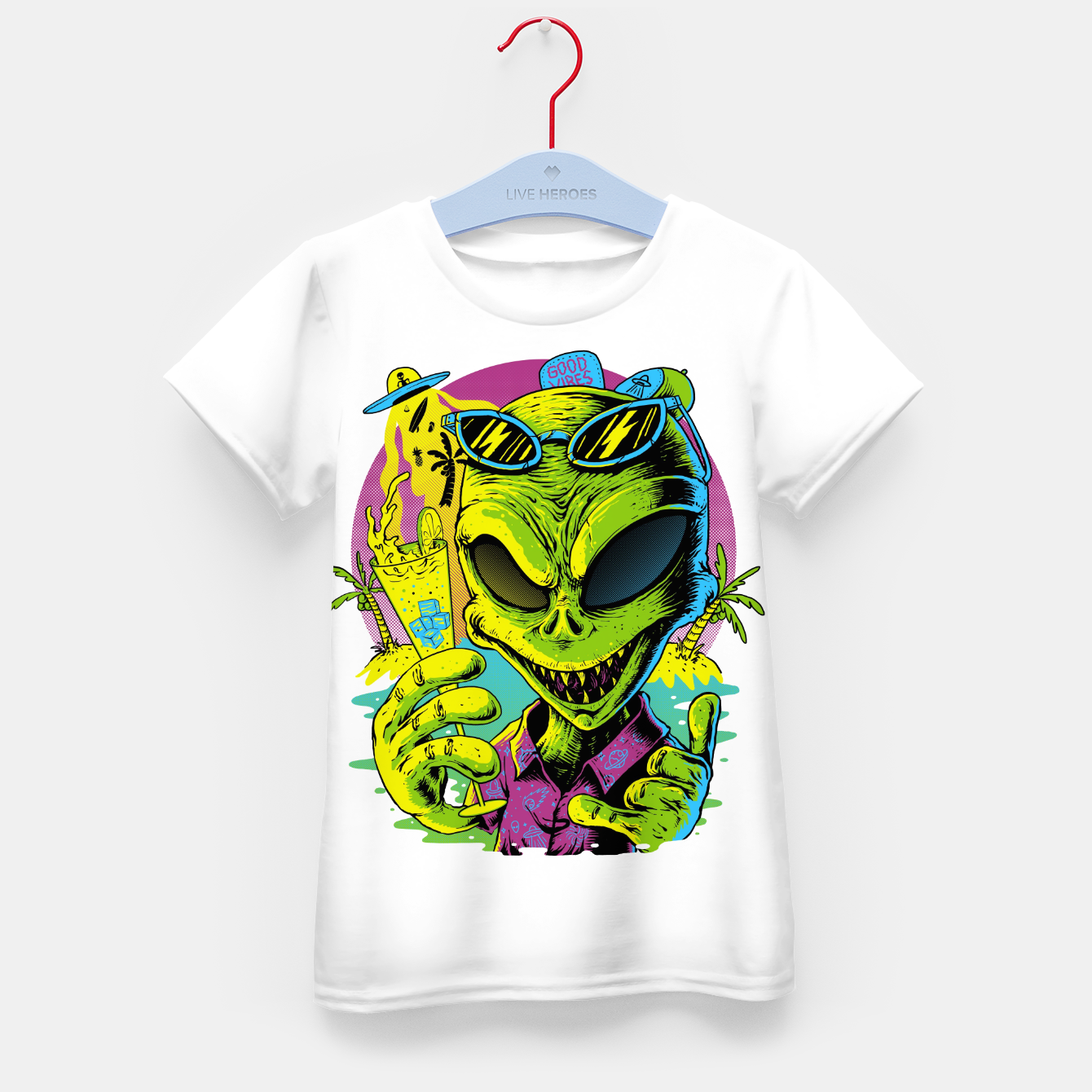Image of Alien Summer Vibes Kid's t-shirt - Live Heroes