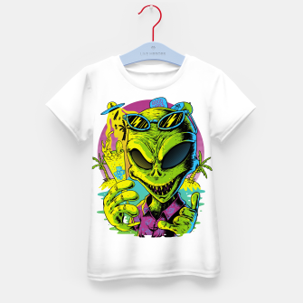 Thumbnail image of Alien Summer Vibes Kid's t-shirt, Live Heroes
