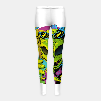 Alien Summer Vibes Girl's leggings Bild der Miniatur