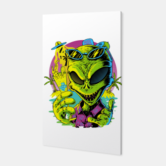Alien Summer Vibes Canvas Bild der Miniatur
