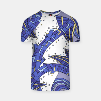 Thumbnail image of Wandering Abstract Line Art 10: Sapphire T-shirt, Live Heroes