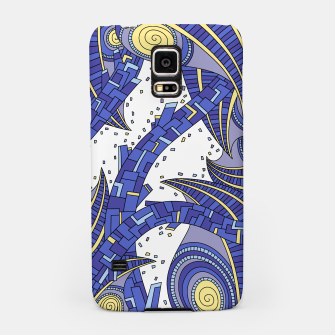 Thumbnail image of Wandering Abstract Line Art 10: Sapphire Samsung Case, Live Heroes