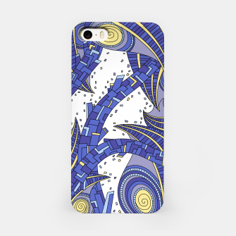 Thumbnail image of Wandering Abstract Line Art 10: Sapphire iPhone Case, Live Heroes