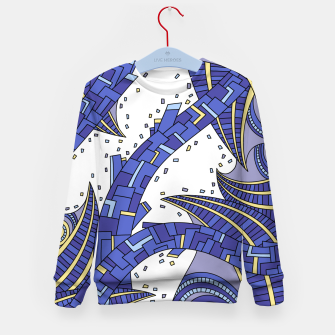 Thumbnail image of Wandering Abstract Line Art 10: Sapphire Kid's sweater, Live Heroes