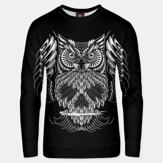 Thumbnail image of Owl Skull Ornate Unisex sweater, Live Heroes