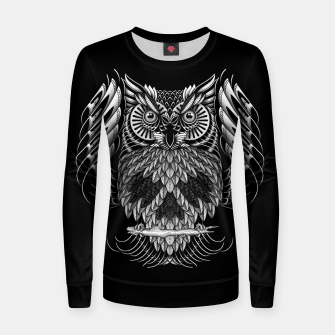 Owl Skull Ornate Women sweater Bild der Miniatur