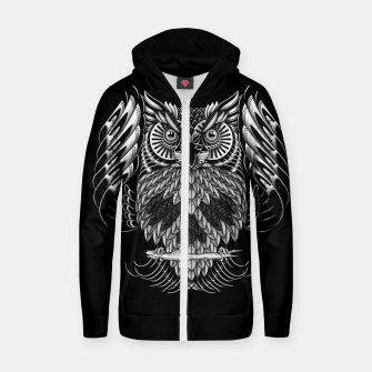 Owl Skull Ornate Zip up hoodie Bild der Miniatur