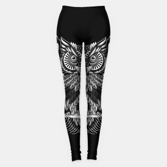 Owl Skull Ornate Leggings Bild der Miniatur