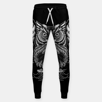 Owl Skull Ornate Sweatpants Bild der Miniatur