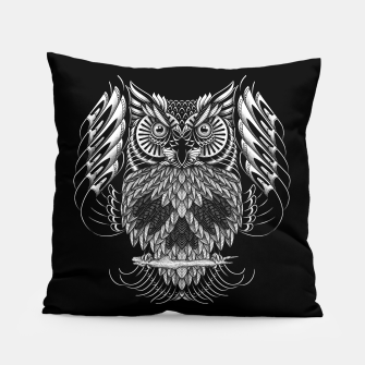 Owl Skull Ornate Pillow Bild der Miniatur