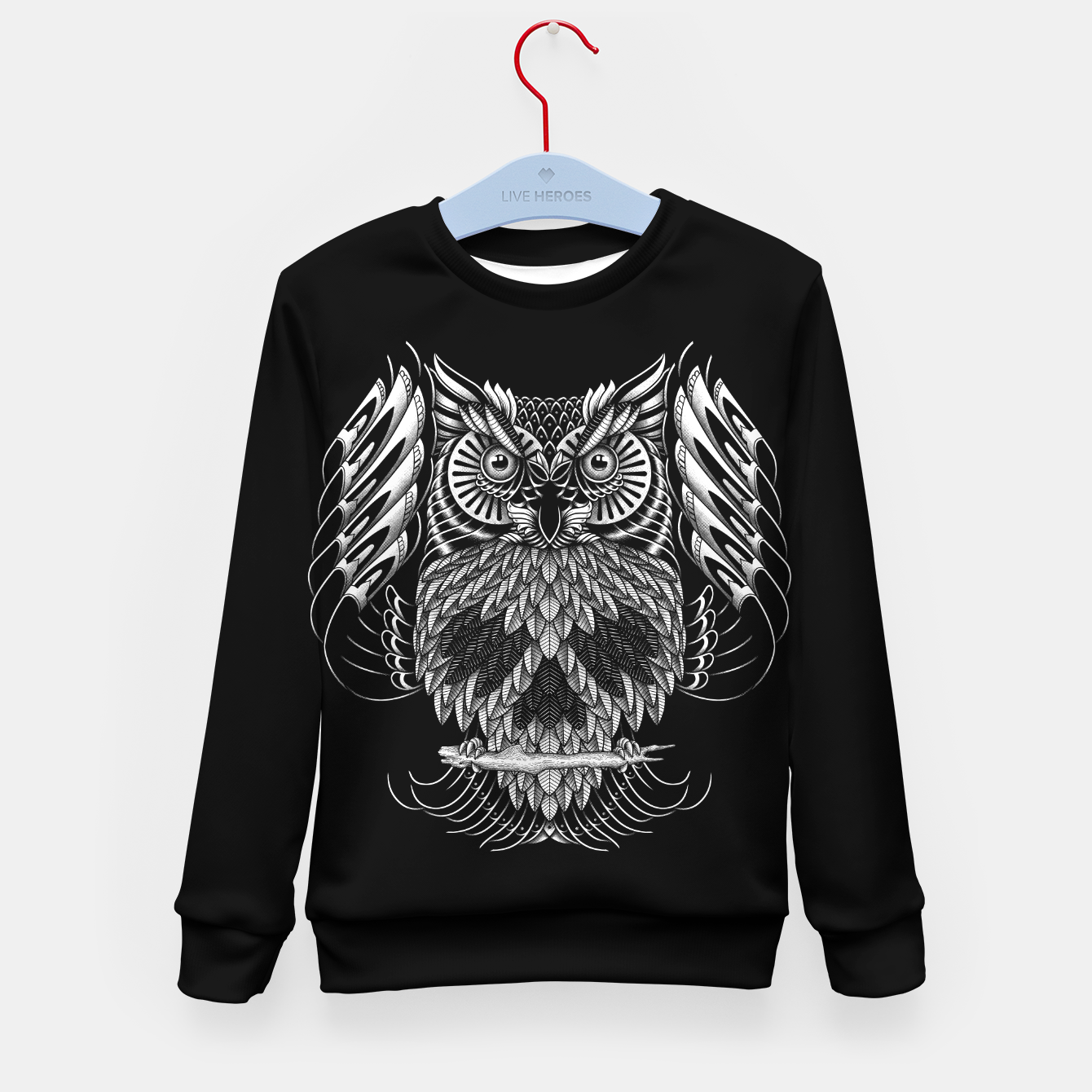 Foto Owl Skull Ornate Kid's sweater - Live Heroes