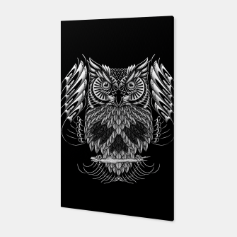 Owl Skull Ornate Canvas Bild der Miniatur