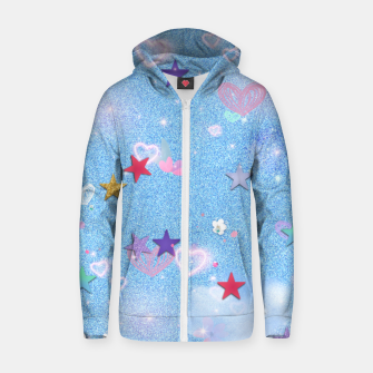 Thumbnail image of Some Cuteness 1 blue Zip up hoodie, Live Heroes