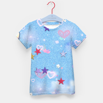 Thumbnail image of Some Cuteness 1 blue Kid's t-shirt, Live Heroes