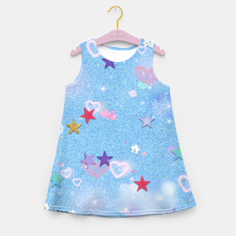 Thumbnail image of Some Cuteness 1 blue Girl's summer dress, Live Heroes
