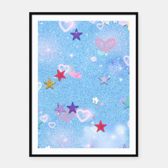 Thumbnail image of Some Cuteness 1 blue Framed poster, Live Heroes