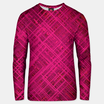 Thumbnail image of Red/Fuchsia Diagonal Line Pattern Unisex sweater, Live Heroes