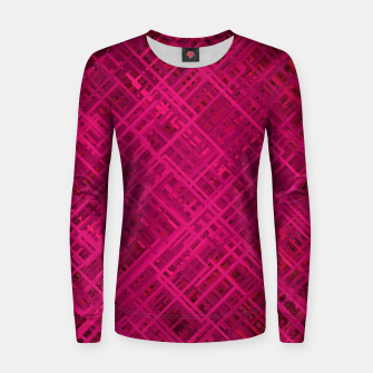Thumbnail image of Red/Fuchsia Diagonal Line Pattern Women sweater, Live Heroes